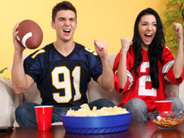 Super Bowl Party Fans
